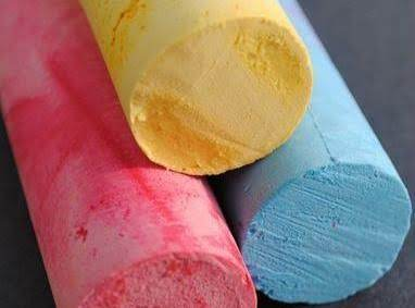 I Got This Recipe And Pic From:  Http://www.minieco.co.uk/homemade-pavement-chalk/