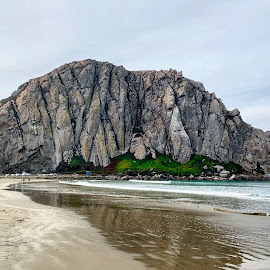 Morro Rock by Christopher Kenney - Landscapes Beaches