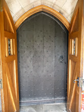 Photo: Oak door , thought to be from the previous church building