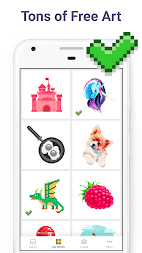 Pixel Art: Color by Number Game APK screenshot thumbnail 7