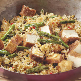 Tofu and Chinese Long Bean Fried Rice.