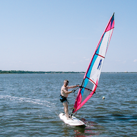 Windbag by Myra Brizendine Wilson - Sports & Fitness Watersports ( windsurfing, windsurfer, river,  )
