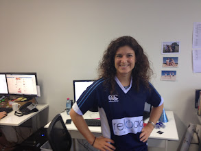 Photo: Cara, the head of our UK operation, gets into the geek shirt spirit on her last day in Australia! We'll miss you Cara!