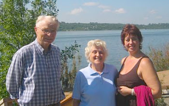 Photo: Saskatchewan Beach, Sask. August 8/10.  Peter & Irene Cheroff & Irina Anosova. Mae Popoff Photo
