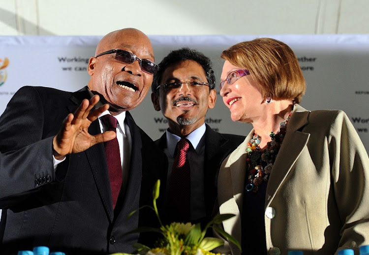 Jacob Zuma, Ebrahim Patel and  Helen Zille. Picture: GCIS