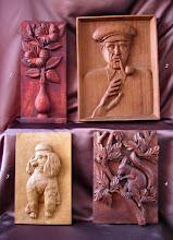 Photo: (1) 48 x 21 cm. (2) 50 x 38 cm. (3) 35 x 21 cm. (4) 35 x 24 cm. || Talla en madera. Woodcarving.   Puedes conocer más de este artista en el blog: http://tallaenmadera-woodcarving-esculturas.blogspot.com/