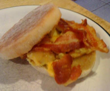 Dorm Room Bacon & Egg English Muffins Recipe