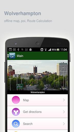 Wolverhampton Map offline