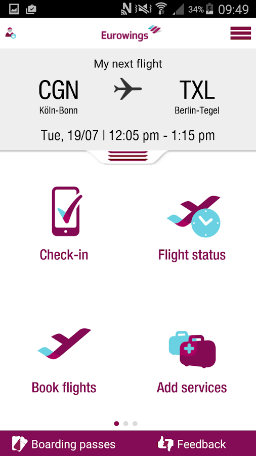 Eurowings- screenshot