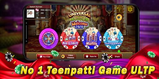 Universal Teen Patti - Indian Poker Game 1.10 screenshots 1