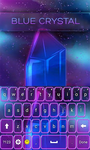 Blue Crystal Keyboard