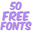 Fonts for FlipFont 50 25 icon