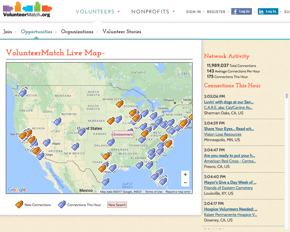 Map For Nonprofits VolunteerMatch – Google Earth Outreach