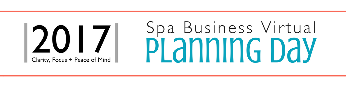 Spa Business Virtual Planning Day