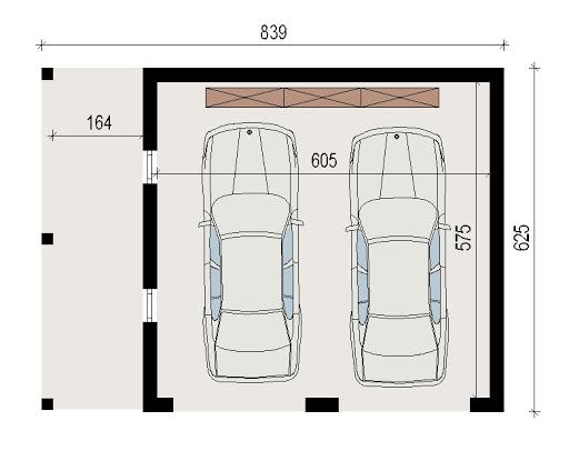 AD-G3.1 - Rzut garażu