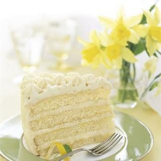 Lemon Layer Cake with Lemon Curd and Mascarpone recipe | Epicurious.com.