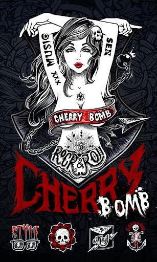 Cherry Bomb GO Launcher Theme