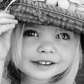 Tip My Hat by Cheryl Korotky - Black & White Portraits & People (  )