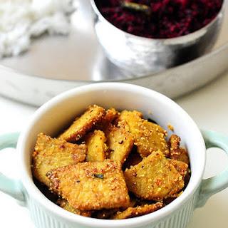 Yam Fry on Tawa-Recipe from Raks Kitchen