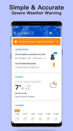Weather - Live weather & Radar app 1.0.3.8 Screenshots 2