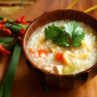 Turkey Congee (Rice Porridge).