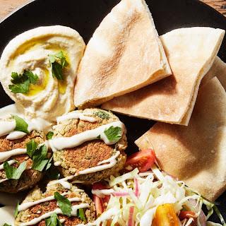Baked Falafel With Orange-Tahini Sauce recipe | Epicurious.com.