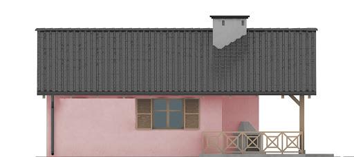 G196 - Budynek rekreacyjny z sauną - Elewacja lewa