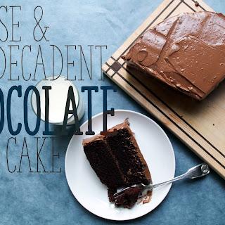 Dense & Decadent Chocolate Cake