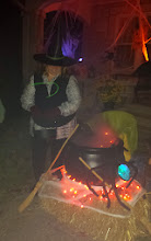 Photo: a witch and her cauldron