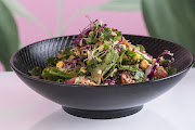 This quinoa salad is a great example of chef Sasha Zambetti's advice for vegans to 'eat the rainbow'.