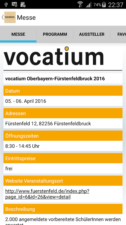 IfT vocatium- screenshot