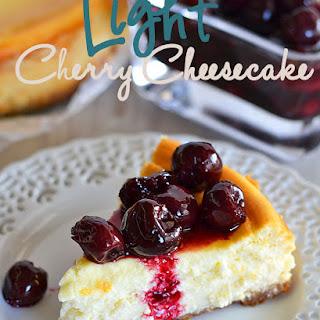 Light Cherry Cheesecake.
