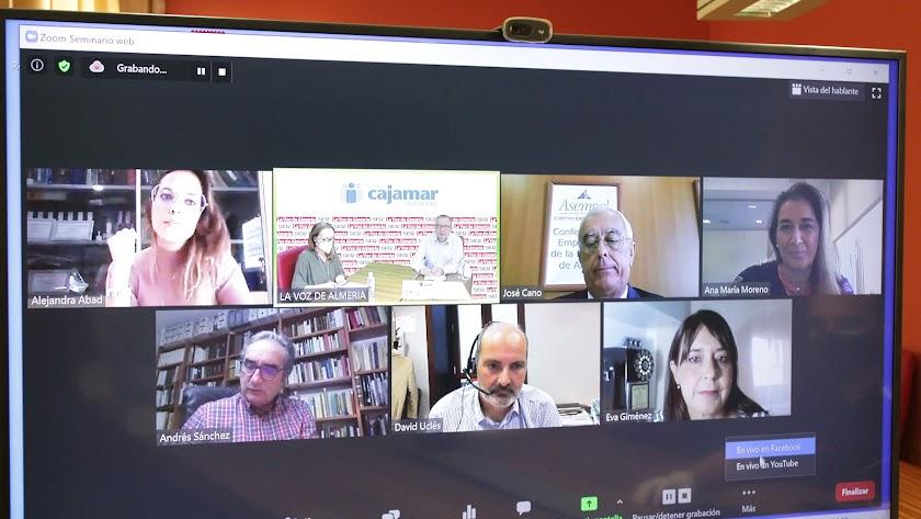 Pedro M. De la Cruz fue el encargado de abrir la videoconferencia con los expertos.
