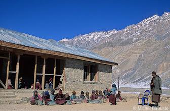 Photo: classe d'hiver à l'école de Pishu