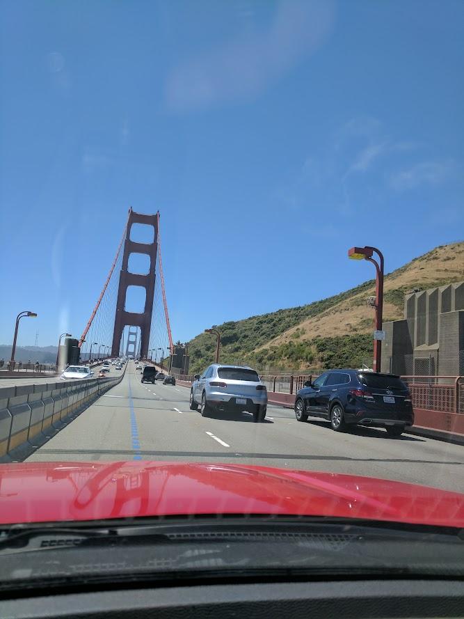 Golden Gate reassuring I'm getting home