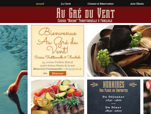 Site web Au gré du vent