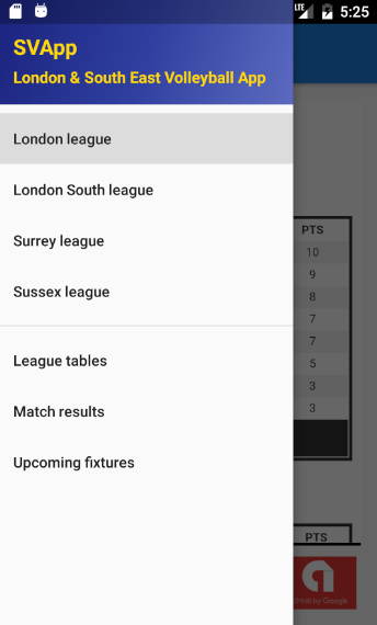 SVApp - London & SE Vball App- screenshot