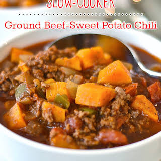 Paleo Slow-Cooker Ground Beef-Sweet Potato Chili.