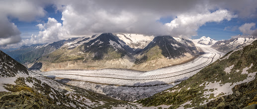 Photo: Aletschgletscher - Aletsch glacier
