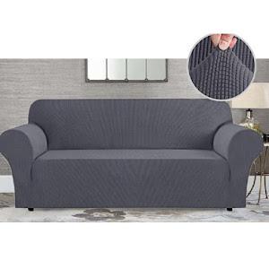 Husa gri cu elastic pentru canapea, lungime 180-215 cm