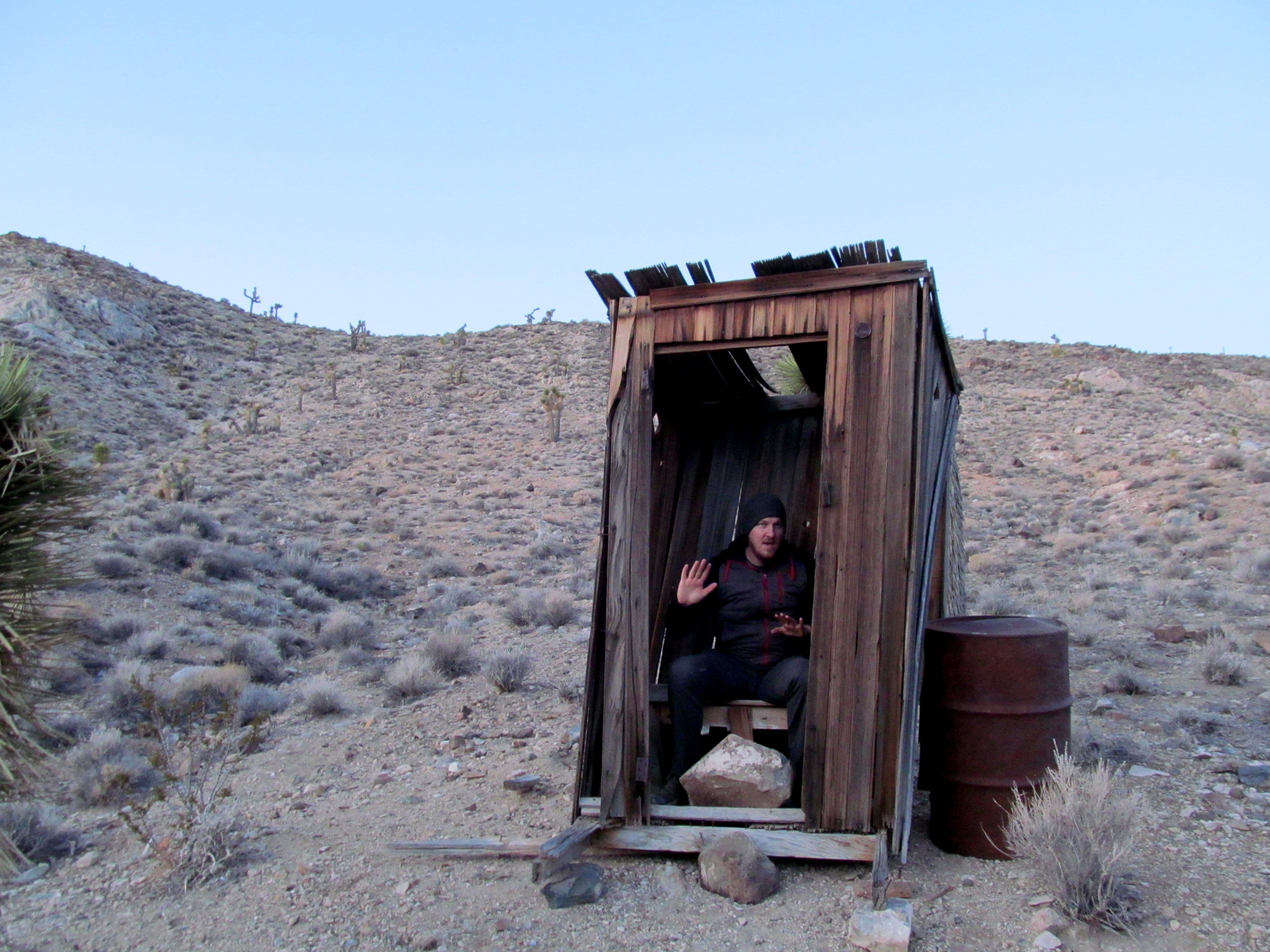 Photo: Lost Burro outhouse