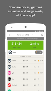 Fare Compare Uber, Lyft & Taxi- screenshot thumbnail