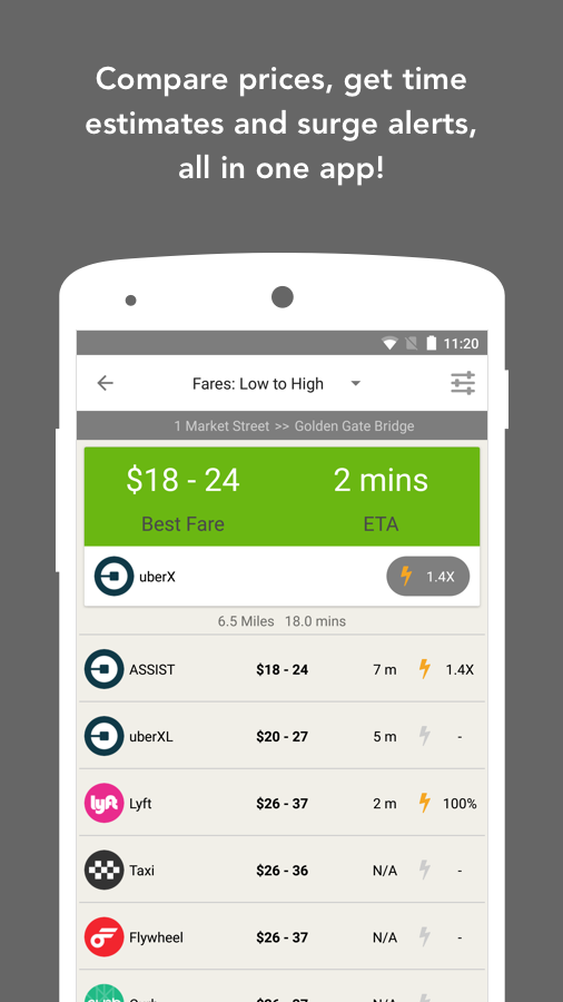 Fare Compare Uber, Lyft & Taxi- screenshot