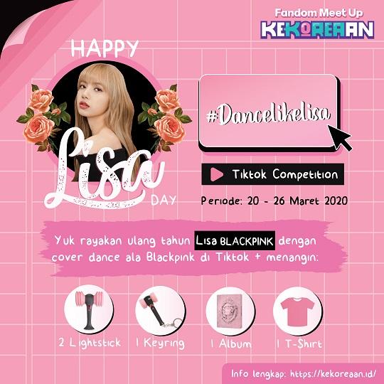 "Ayok Ikutan Kompetisi ""Kekoreaan Lisa Day"" Buat Dapetin Merch Official BLACKPINK!"