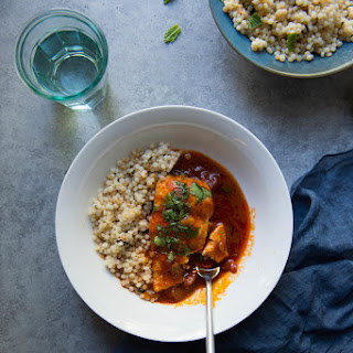 Chraime with couscous (a.k.a. fish in spicy tomato sauce) + GIVEAWAY.