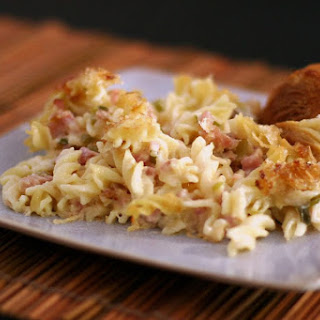Ham, Swiss, and Pasta Casserole Recipe