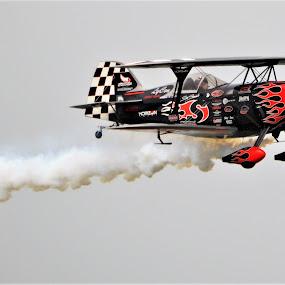 S-2S - Skip Stewart by Benito Flores Jr - Transportation Airplanes ( n.a.s., air show, pilot, smoke, texas, corpus christi )