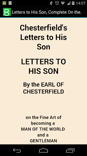 Letters to His Son Complete