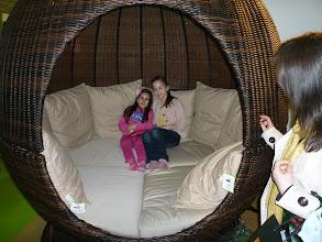 Photo: rattan round bed