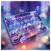 Glass Night Rain Drop Keyboard Theme Android APK Download Free By Bs28patel